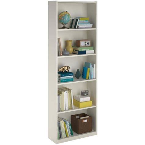 ameriwood 5 shelf bookcase white ameriwood 5 shelf bookcase storage home office shelving