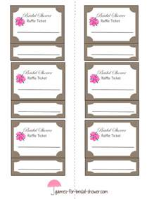 Draw Ticket Template by Free Printable Bridal Shower Raffle Tickets