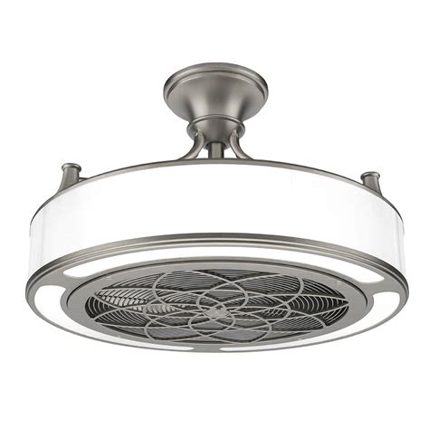 Modern Flush Mount Chandelier Anderson 22 In Indoor Outdoor Brushed Nickel Ceiling Fan