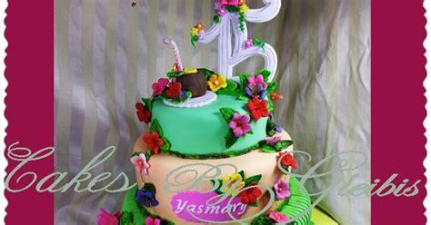 quinceanera themes hawaiian cakes by gleibis quinceanera cake quot hawaiian theme quot