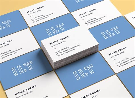 Business Card Mockup Psd Free free perspective business card mockup psd presentation