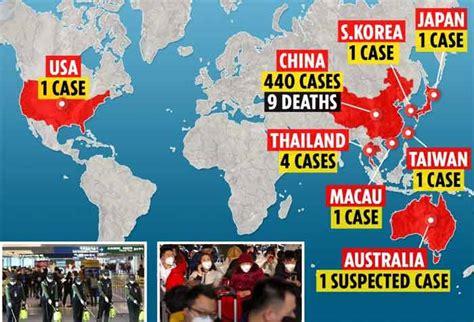 coronavirus la carte mondiale de lepidemie en cours