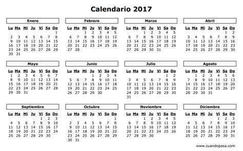 calendario de portugal 2017