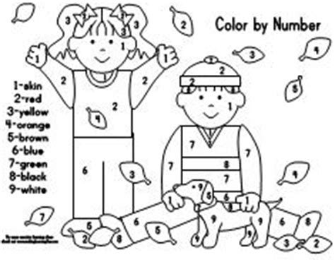 fall coloring pages color by number making learning fun free early learning printables