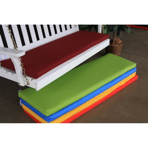 glider swing replacement cushions 6 foot swing bench glider cushion