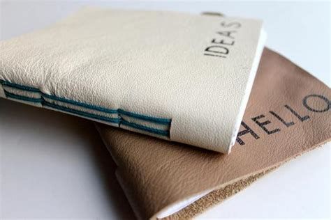 Handmade Leather Journal Tutorial - handmade leather journals allfreepapercrafts