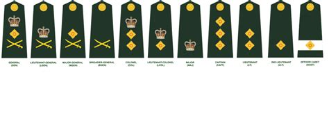 army officer rank insignia images