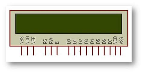 16 2 lcd display pin diagram projects for ece 16 x 2 lcd