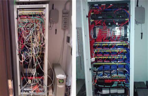 armadio dati rete dati cablaggi in rame e in fibra ottica switch e