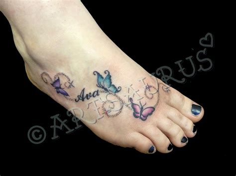 small girly foot tattoos leave a comment tags butterfly foot girly name