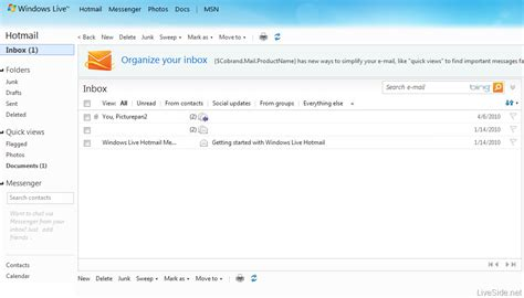 email hotmail new windows live hotmail wave 4 screenshots revealed