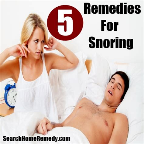 5 snoring home remedies treatments cures
