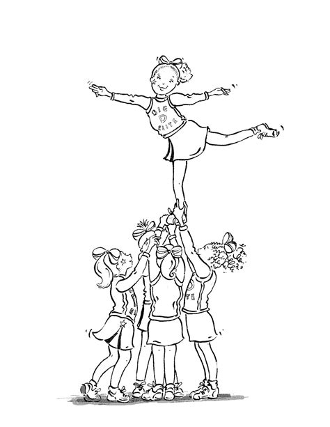 free printable cheerleading coloring pages for