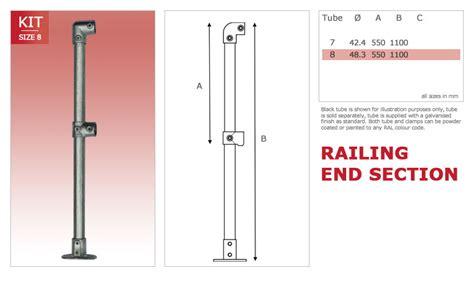key section alvin key cl hand rail kits size 8