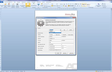 Word Vorlage In Outlook Einbinden Eworks Referenz Entwicklung Word Vorlage Mit Outlook Anbindung