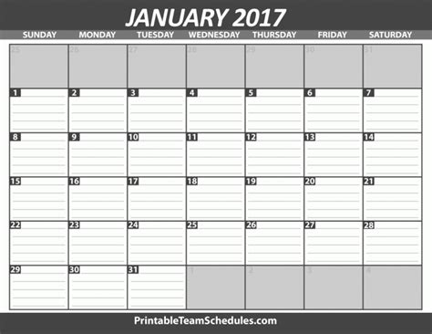 Printable Calendar With Holidays And Lines Monthly Calendar With Lines Calendar 2017 Printable