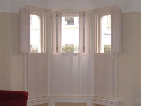 solid shutters interior window top opening solid bay window shutters house