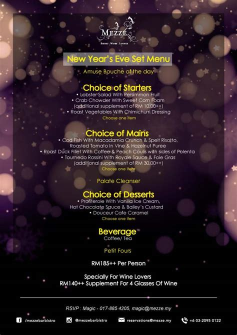 new year dinner malaysia 2016 new year set dinner 2016 mezze medan damansara