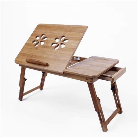 desain meja laptop portable meja laptop portable kayu dan aluminium multifungsi