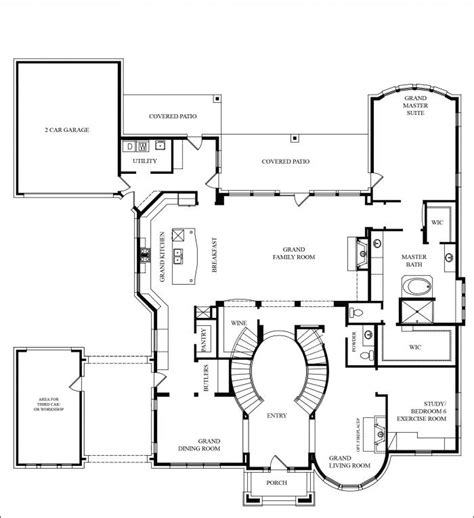 grand floor plans grand homes print hton v