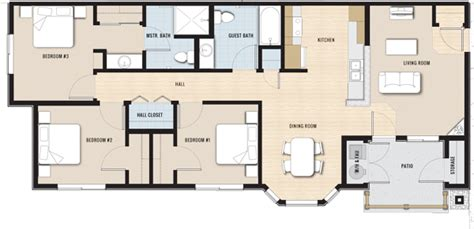 3 bedroom unit floor plans floor plans the king s station apartments affordable