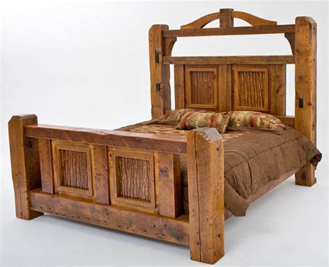 Barn Wood Bed Frames Timber Frame Bed Barnwood Beams Unique Design