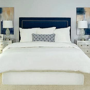 Blue Velvet Headboard Navy Velvet Headboard Design Ideas