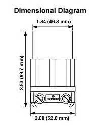 Leviton 2313 20 Amp, 125 Volt, NEMA L5-20R, 2P, 3W