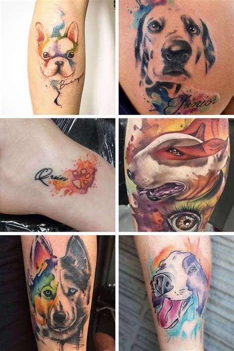 watercolor tattoo dog 7 inspiring watercolor ideas for anyone looking