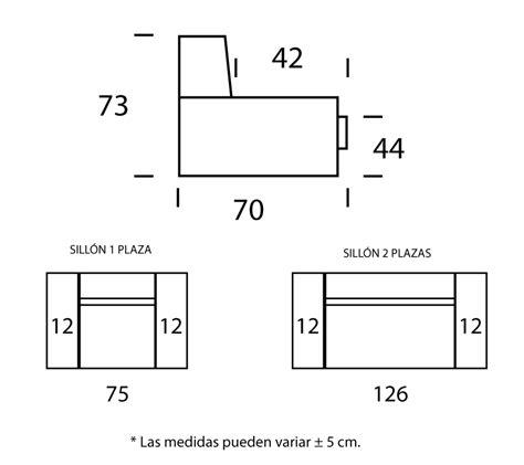 medidas de sillones sill 243 n acomodel circo