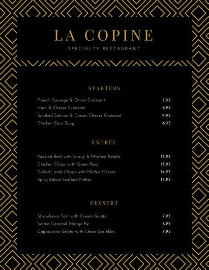 fancy dinner menu template customize 70 fancy menu templates canva
