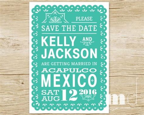 destination wedding save the date text papel picado save the date invitation tropical destination wedding save the date invite