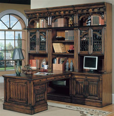 Office Bar Cabinet House Barcelona Home Office Suite 8pc Peninsula With File Cabinet Bar 8pglass