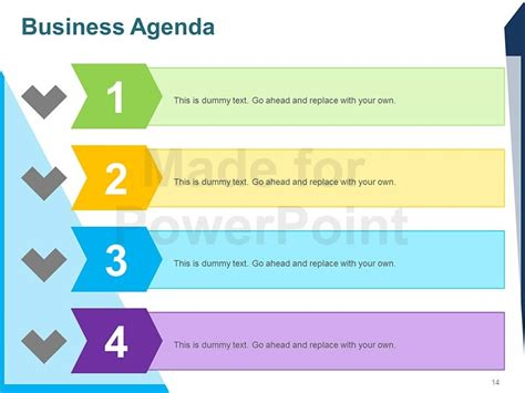 Business Agenda Editable Powerpoint Template Powerpoint Agenda
