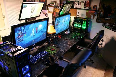 zocker schreibtisch pc build keyboard gaming pc monitor epic setup