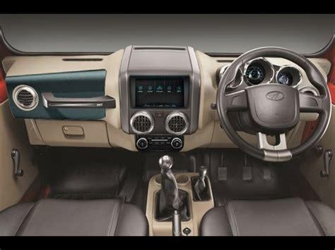 thar jeep interior mahindra thar 2018
