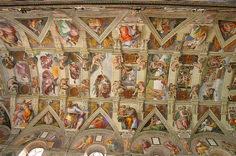 The Painting On The Ceiling Of The Sistine Chapel by Michelangelo S Sistine Chapel Ceiling History