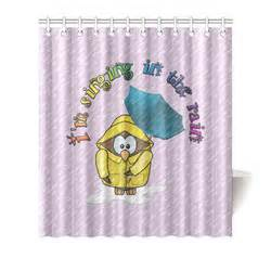 singing in the rain shower curtain singing in the rain owl shower curtain 66 quot x72 quot id d726719