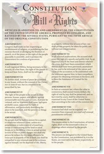 printable version of the us bill of rights posterenvy constitution of the united states the bill