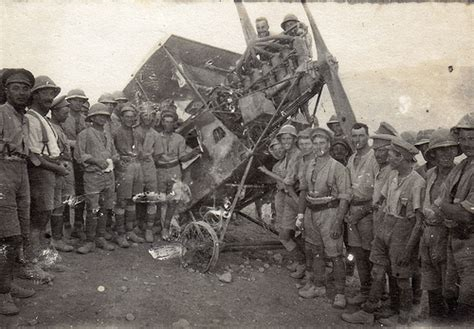 ottoman soldiers ww1 british soldiers posing with a wrecked ottoman aeg c iv