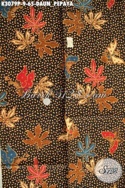 Kamen Batik Motif Daun Pepaya batik motif daun pepaya batik halus proses printing
