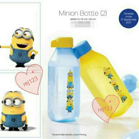 Minion Bottle 500ml by Offer Tupperware Minion Bottle 500ml 2 Shopee Malaysia