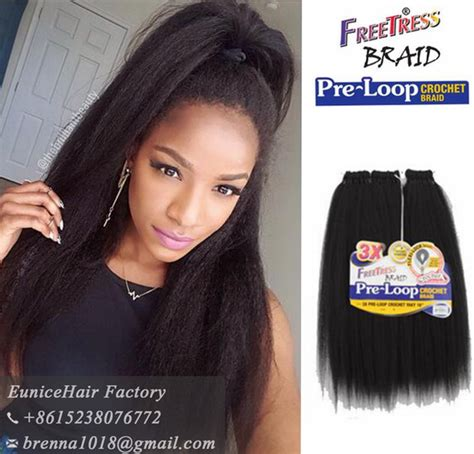 pre braided hair extensions for crochets freetress braid pre loop yaki straight hair extension