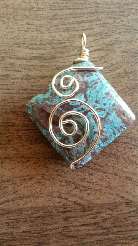 best 25 wire wrapped pendant ideas on wire