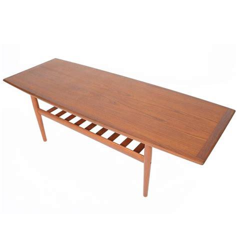 grete jalk teak coffee table for glostrup mobelfabrik at