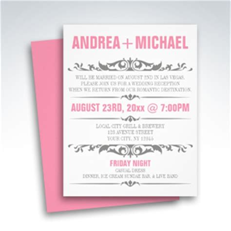 invitation wedding reception only simplicity reception only invitations simplicity