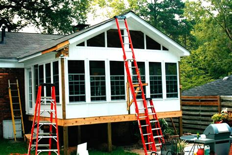 deck leads to four seasons room denbesten real estate pin deck framing plan side view on pinterest