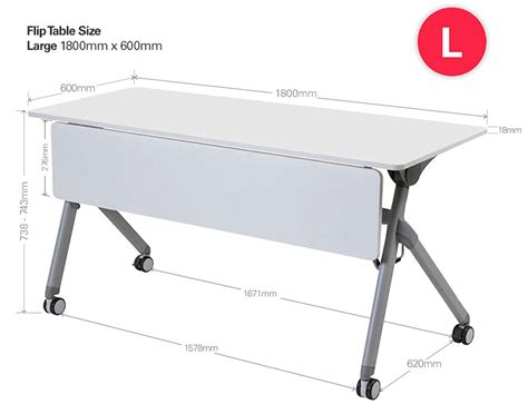 flip folding table with modesty panel meeting room