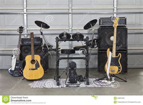 Garage Rock Guitar Tone by Garage Band Set Up Stock Photos Image 24861923