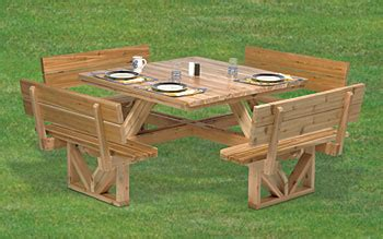 square wood picnic table plans  woodworking